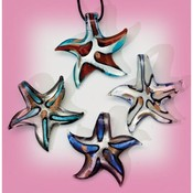 Glass Necklace Star Fish Shape