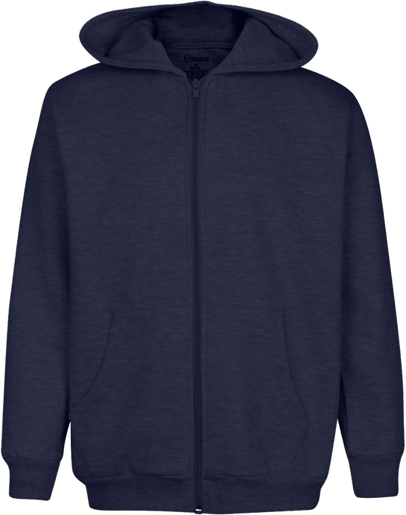 Premium Navy Youth Zippered Hoody - Size 7/8 (1982121)