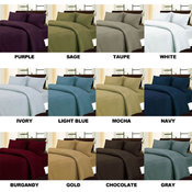 Solid Queen Size Microfiber Sheet Set- Asst Colors