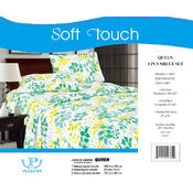 Soft Touch Microfiber Queen Sheet Sets-Green Yellow Leaf