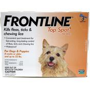 Frontline For Dogs And Puppies 11-22Lb 3 Pack Wholesale Bulk