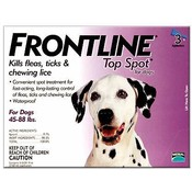 Frontline For Dogs And Puppies 45-88 Lb 3 Pack Fleas & Ticks Wholesale Bulk