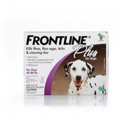 Frontline Plus For Dogs And Puppies 45-88 Lb 6 Pack Wholesale Bulk