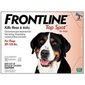 Frontline For Dogs And Puppies 89-132 Lb 3 Pack Wholesale Bulk