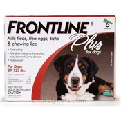 Frontline Plus For Dogs And Puppies 89-132 Lb 6 Pack Wholesale Bulk