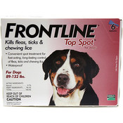 Frontline For Dogs And Puppies 89-132 Lb 6 Pack Wholesale Bulk