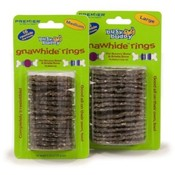 Busy Buddy Gnawhide Rings-Cornstarch Large 16pack