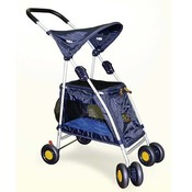 Outward Hound Walk N Roll Top Flap Stroller - Blue