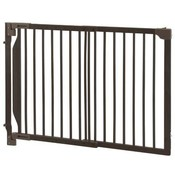 Expandable Walk-Thru Pet Gate Coffee Bean