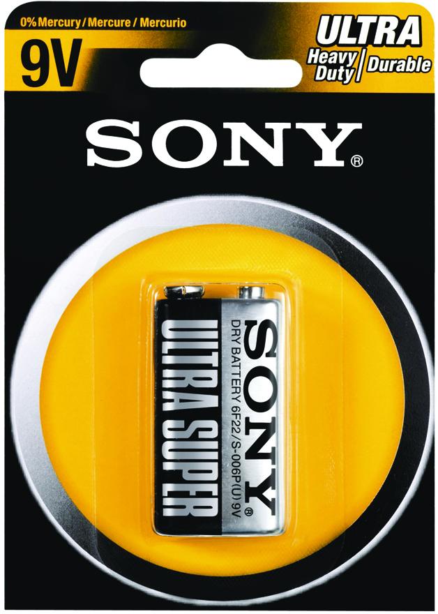 Sony Heavy Duty/Carbon Zinc 9V (1 Pack) Batteries (1866286)