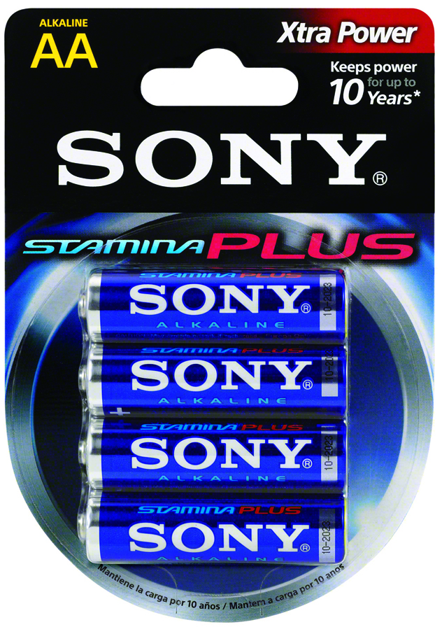 Sony STAMINA Plus Alkaline AA (4 Pack) BATTERIES [1866298]