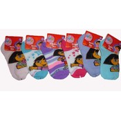 Dora Girls Low Cut Socks Size 4-6