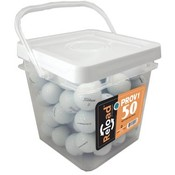 50 Ball Bucket of PROV1/PROV1X Recycled Golf Balls