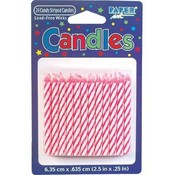 Birthday Candles Pink 24 Ct