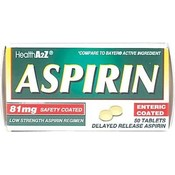 Health A2Z Aspirin Enteric50Ct