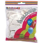 Helium Balloon White 25Ct