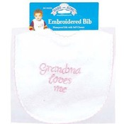 Embroidered Bib - I Love