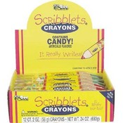 Scribblet Crayon W/Candy 2 Oz Display Wholesale Bulk