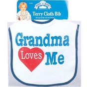 I Love Grandma Bib