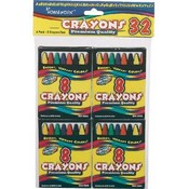Crayons 8Ct 4Pk Wholesale Bulk