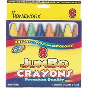 Jumbo Crayons 8 Ct Wholesale Bulk