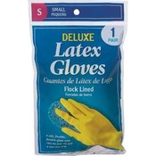 Deluxe Latex Gloves Small 1Pr
