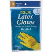 Deluxe Latex Gloves Medium 1Pr