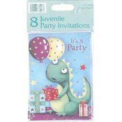 Assorted Juvenile Invitations - 8 Ct Wholesale Bulk