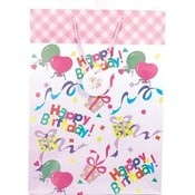 Birthday Gift Bag: Matte, Jumbo Wholesale Bulk