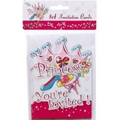 Princess Invitation Cards - 8 Ct Wholesale Bulk