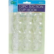 DDI Suction Cup Hooks - 12 Pieces Wholesale Bulk