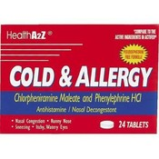 Health A2Z Cold & Allergy Tablets - 24 Ct