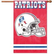 Patriots Retro Pat the Patriot Applique Banner Flag