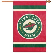 Minnesota Wild Applique Banner Flag