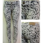 Ladies Fashion Long Pants - Printed Flowers