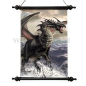 Rogue Dragon Art Scroll