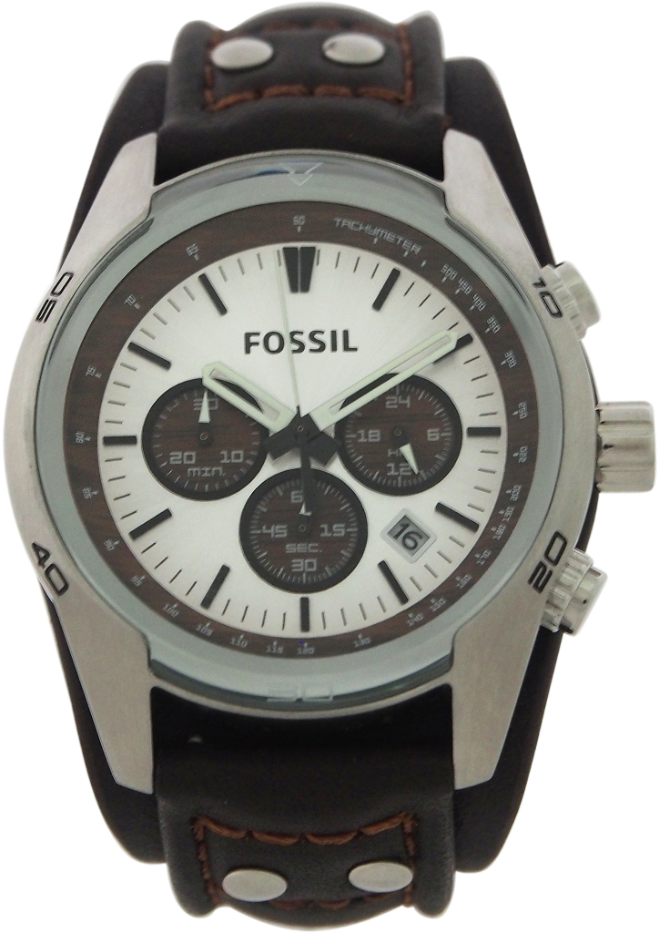 Fossil - CH2565P Coachman Chronograph Brown Leather WATCH [1987292]