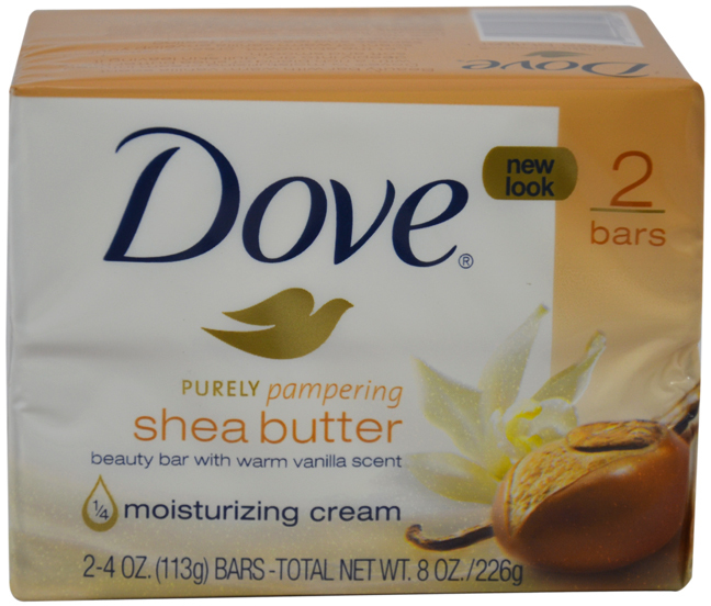 Unisex Dove Nourishing Care Bar SOAP Shea Butter SOAP 2 X 4 oz [1786268]