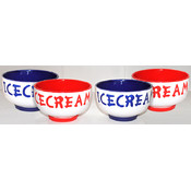 KitchenWorthy Ice Cream Bowl Set