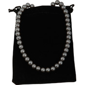Bret Roberts Charcoal Glass Pearl Necklace Wholesale Bulk