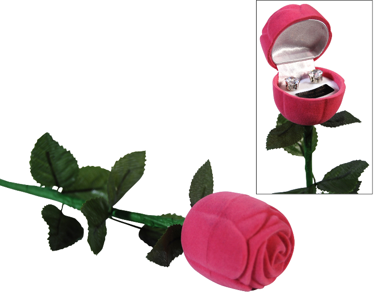 Bret Roberts CUBIC ZIRCONIA Earrings In A Pink Rose [1333790]