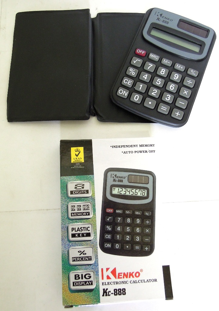 SOLAR Powered Calculator with Battery (1860295)