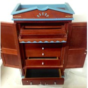 Jewelry box/cabinet wooden