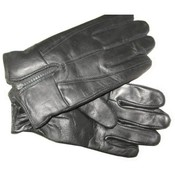 Men's Leather Gloves with Zipper