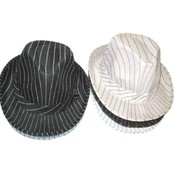 Mens Striped Dress Hat