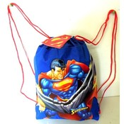 Super Man Cinch Draw String Backpack
