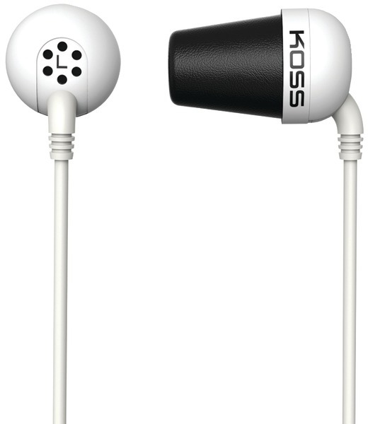 Koss 185331 Plug In-Ear Earbuds (White) [2175055]