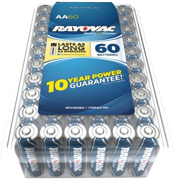 ''Rayovac 815-60Ppj Alkaline BATTERIES Reclosable Pro Pack (Aa, 60 Pk) [2178259]''