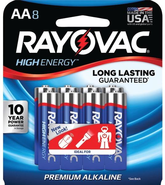Rayovac 815-8J Aa Alkaline BATTERIES (8 Pk) [2178261]