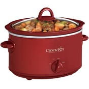 4Quart Oval Slowcooker- Red